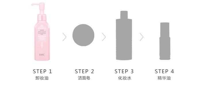 DHC薰衣草柔净卸妆油_使用步骤