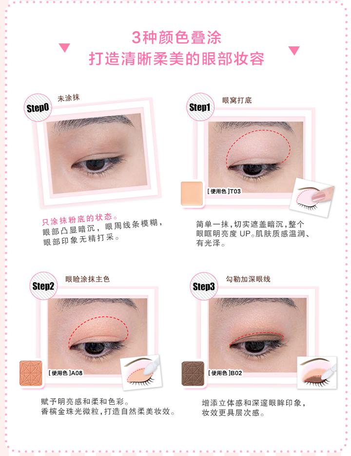 dhc珠光单色眼影的使用步骤